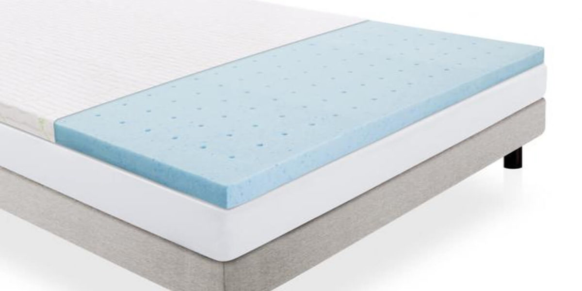 Lucid Linenspa 2 Inch Ventilated Memory Foam Mattress